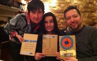 Violeta Medina, Laura Pugno y Francis Catalano