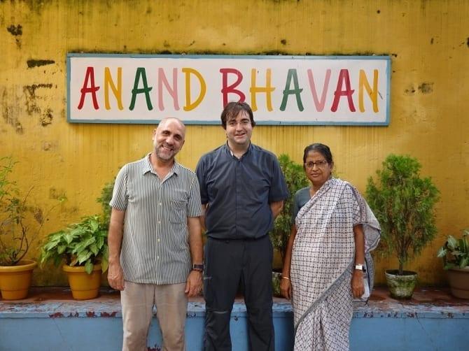 Padre Jose María Herranz en Anand Bhavan