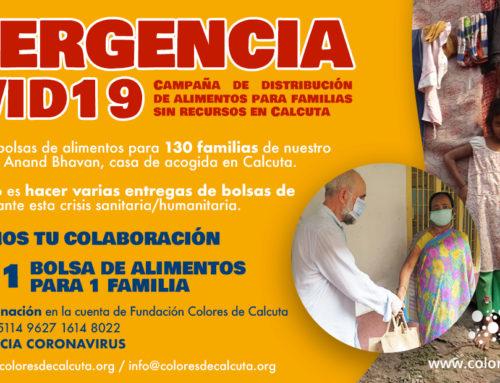 EMERGENCIA COVID19: Campaña de distribución de alimentos