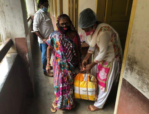 Seis meses de distribución de alimentos, productos de higiene y protección